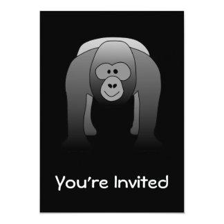 Desenhos animados do gorila do Silverback Convite 12.7 X 17.78cm