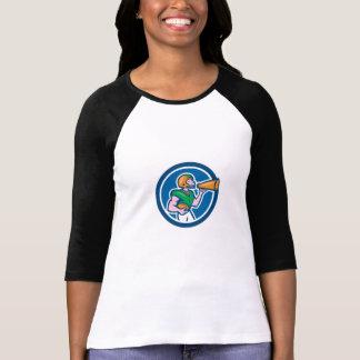 Desenhos animados do megafone do estratego do camisetas