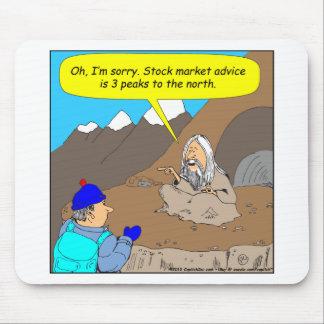 Desenhos animados do mercado de valores de acção d mouse pad