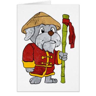 Desenhos animados do mestre do guru do cão cartão comemorativo