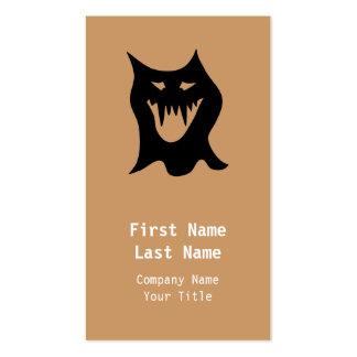 Desenhos animados do monstro, pretos cartão de visita