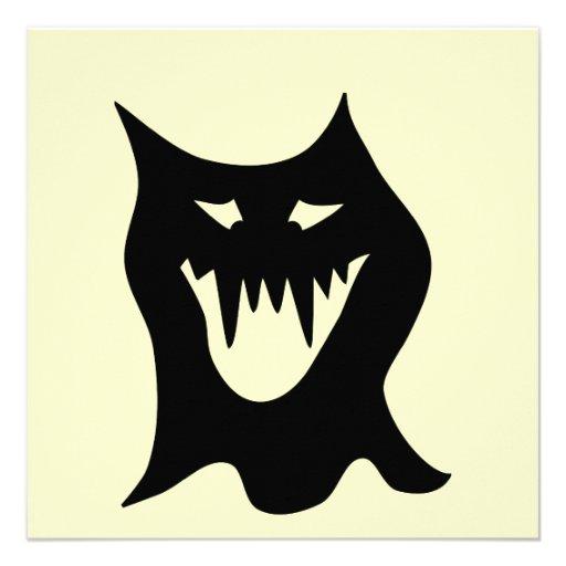 Desenhos animados do monstro, pretos convite personalizados
