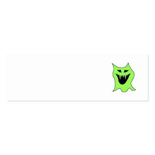 Desenhos animados do monstro. Verde e preto Modelo Cartoes De Visitas