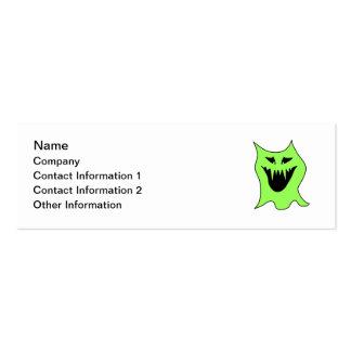 Desenhos animados do monstro Verde e preto Cartoes De Visitas