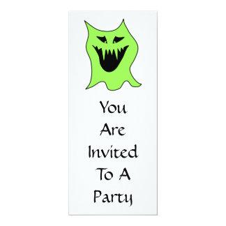 Desenhos animados do monstro. Verde e preto Convite 10.16 X 23.49cm