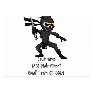 desenhos animados do ninja do crânio cartão de visita grande