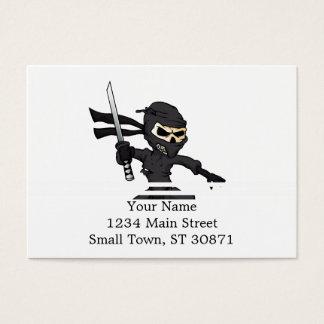 desenhos animados do ninja do crânio cartão de visitas