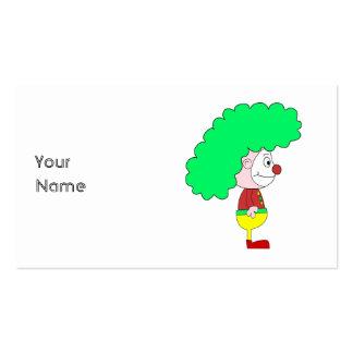 Desenhos animados do palhaço. Amarelo, vermelho e Cartão De Visita
