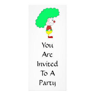Desenhos animados do palhaço. Amarelo, vermelho e  Convites Personalizados