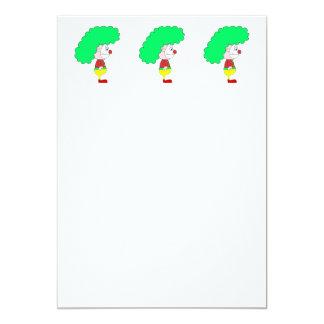 Desenhos animados do palhaço. Amarelo, vermelho e Convite Personalizado
