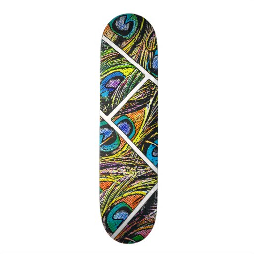 Desenhos animados do pavão - skate