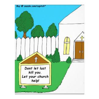 Desenhos animados do sinal de 337 igrejas papeis de carta personalizados