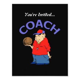 Desenhos animados do treinador de beisebol convites personalizado