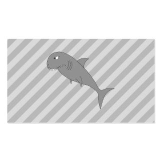 Desenhos animados do tubarão cartões de visitas