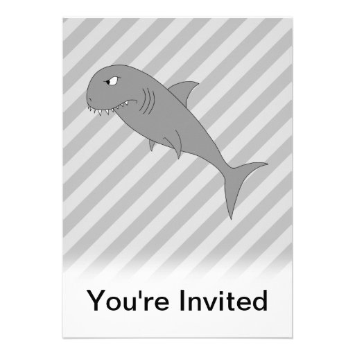 Desenhos animados do tubarão convites personalizado