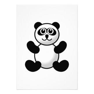 Desenhos animados do urso de panda convites