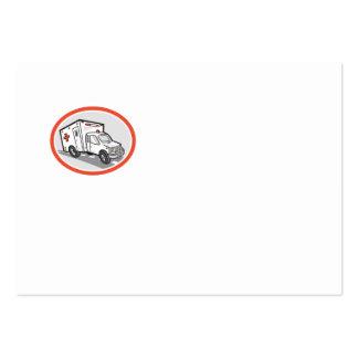 Desenhos animados do veículo da emergência da ambu
