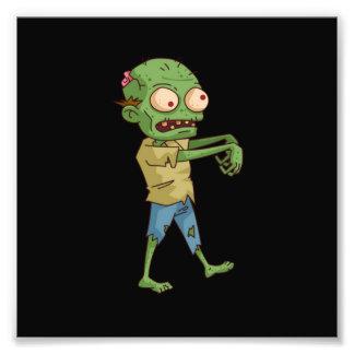Desenhos animados do zombi impressão de foto