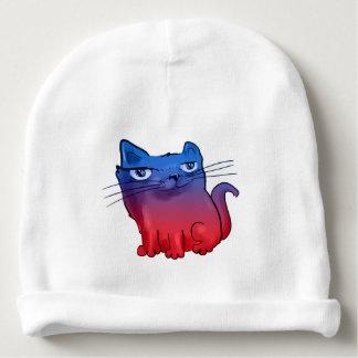desenhos animados doces elegantes do gatinho gorro para bebê