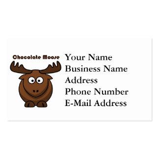 Desenhos animados dos alces do chocolate cartao de visita