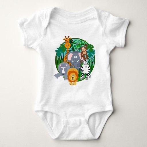 Desenhos animados dos animais do safari camiseta