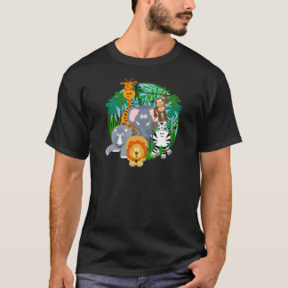 Desenhos animados dos animais do safari tshirts