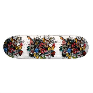 Desenhos animados dos grafites skate