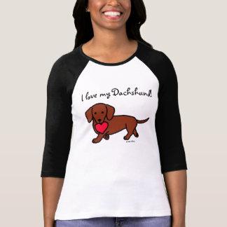 Desenhos animados dos namorados do Dachshund Camisetas