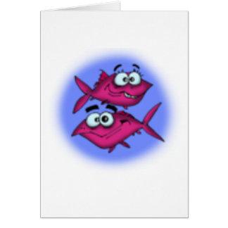 desenhos animados dos peixes cartões