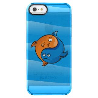 Desenhos animados dos peixes de Yin Yang Capa Para iPhone SE/5/5s Clear