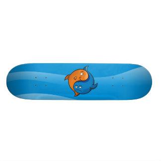 Desenhos animados dos peixes de Yin Yang Skates Personalizados