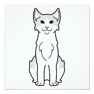 Desenhos animados egeus do gato convite quadrado 13.35 x 13.35cm