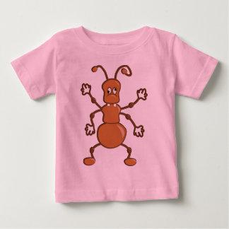Desenhos animados engraçados bonitos da formiga camiseta
