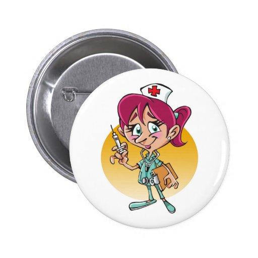 Desenhos animados engraçados da enfermeira boton