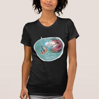 desenhos animados engraçados da minhoca útil do camiseta