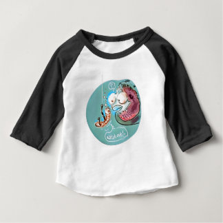 desenhos animados engraçados da minhoca útil do camiseta para bebê