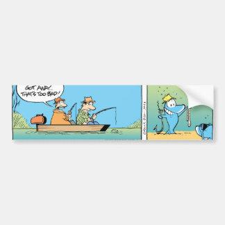 Desenhos animados engraçados da pesca adesivo para carro