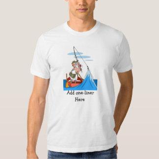 Desenhos animados engraçados da pesca - o pescador t-shirts