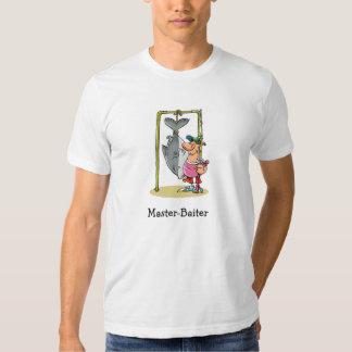 Desenhos animados engraçados da pesca - o pescador tshirts
