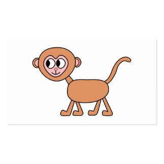 Desenhos animados engraçados de um macaco modelo cartão de visita