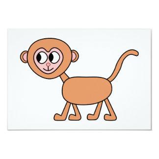 Desenhos animados engraçados de um macaco convite 8.89 x 12.7cm