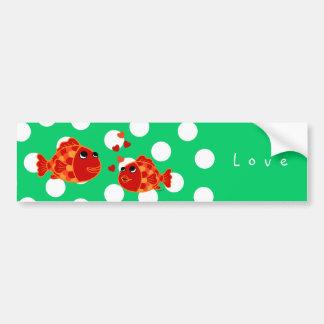 Desenhos animados engraçados do amor do peixe dour adesivos
