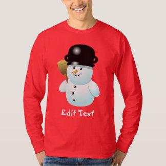 Desenhos animados engraçados do boneco de neve com tshirts