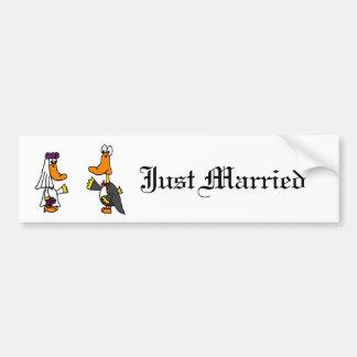 Desenhos animados engraçados do casamento dos adesivo para carro