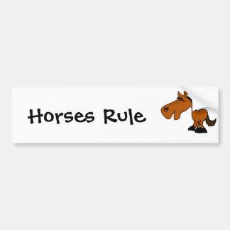 Desenhos animados engraçados do cavalo dos BU Adesivo