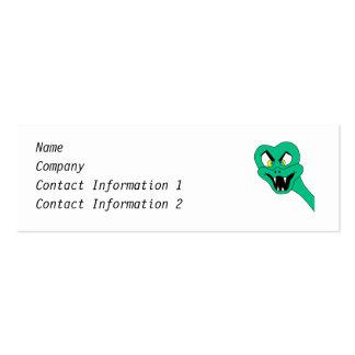 Desenhos animados engraçados do cobra cartão de visita skinny