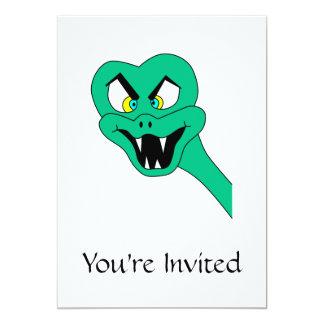Desenhos animados engraçados do cobra convite 12.7 x 17.78cm