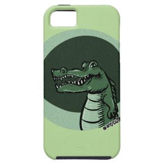 desenhos animados engraçados do crocodilo verde capas para iPhone 5