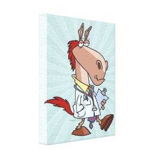 desenhos animados engraçados do doutor do doc do c impressão em canvas