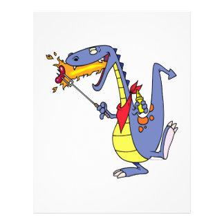 desenhos animados engraçados do dragão dos cachorr modelos de panfleto